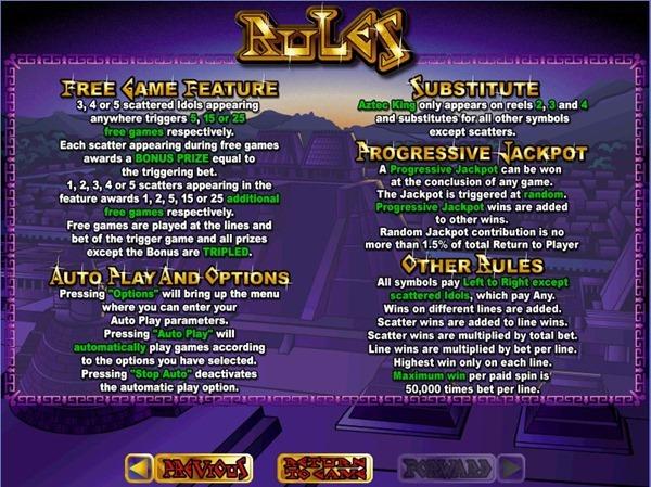 Aztecs-Treasure-RTG-slot-rules